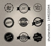 vintage style badges in... | Shutterstock .eps vector #144020344