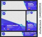 template set of web banners... | Shutterstock .eps vector #1440203933
