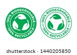 biodegradable recyclable vector ... | Shutterstock .eps vector #1440205850