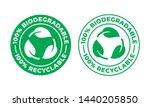 biodegradable recyclable vector ...   Shutterstock .eps vector #1440205850