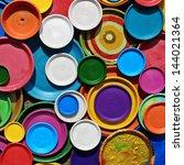 multicolored ceramic plates | Shutterstock . vector #144021364
