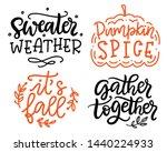 gather together  pumpkin spice  ... | Shutterstock .eps vector #1440224933