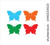 butterfly icon  colorful... | Shutterstock .eps vector #1440233423
