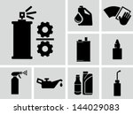 lubricants vector icons  | Shutterstock .eps vector #144029083