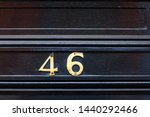 house number 46 with the forty... | Shutterstock . vector #1440292466