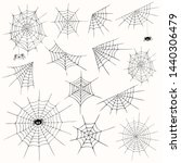 cobweb collection  isolated  on ... | Shutterstock .eps vector #1440306479