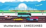 cityscape traffic urban... | Shutterstock .eps vector #1440314483