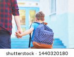 father accompanies the child to ...   Shutterstock . vector #1440320180