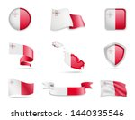 malta flags collection. flags... | Shutterstock .eps vector #1440335546