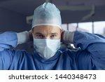 portrait of caucasian male... | Shutterstock . vector #1440348473