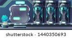 human cloning cartoon with... | Shutterstock . vector #1440350693