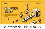 metallurgical industry company...   Shutterstock . vector #1440350729
