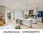 Stylish All White Kitchen...