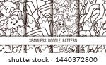 collection of funny doodle... | Shutterstock .eps vector #1440372800