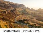 the quiraing walk in skye ... | Shutterstock . vector #1440373196