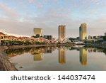 Singapore Quay Skyline At...