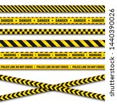 yellow and black barricade... | Shutterstock .eps vector #1440390026