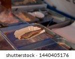 Stock photo herring in dutch markets ready to be eaten 1440405176
