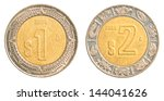 One   Two Mexican Peso Coins...