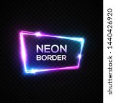 colorful neon frame on... | Shutterstock .eps vector #1440426920