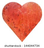 Isolated Metallic Red Heart