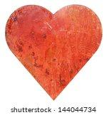Isolated Metallic Red Heart