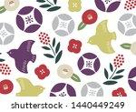 bird and flower japanese pretty ...   Shutterstock .eps vector #1440449249