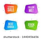 geometric banners. best choice. ... | Shutterstock .eps vector #1440456656