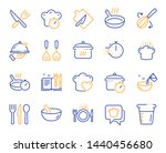 cooking line icons. boiling... | Shutterstock .eps vector #1440456680