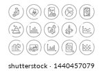 charts and graphs line icons.... | Shutterstock .eps vector #1440457079