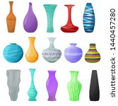 vase vector decorative ceramic... | Shutterstock .eps vector #1440457280