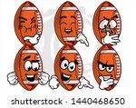 football ball cartoon character ... | Shutterstock .eps vector #1440468650