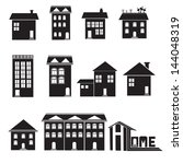 Stock vector home and apartment vector icons set 144048319