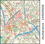 dallas  texas downtown map   Shutterstock .eps vector #144049606
