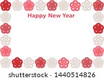 new year card with japanese... | Shutterstock .eps vector #1440514826