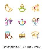 restaurant icons  monoline... | Shutterstock .eps vector #1440534980