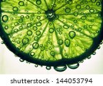 Lime Slice In Fizzy Water