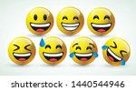 high quality icon 3d vector round yellow cartoon bubble emoticons for social media Whatsapp Instagram Facebook chat comment reactions, icon template face tear, laughter emoji character message