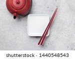 empty plate  teapot with herbal ...   Shutterstock . vector #1440548543