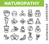 naturopathy therapy vector thin ... | Shutterstock .eps vector #1440551969