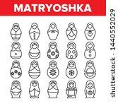 Matryoshka Toy Vector Thin Line ...