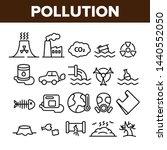 pollution of environment vector ... | Shutterstock .eps vector #1440552050