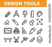 design tools vector thin line... | Shutterstock .eps vector #1440552059