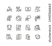 successful business line icon... | Shutterstock .eps vector #1440566663