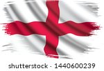 waving flag of england states.... | Shutterstock .eps vector #1440600239