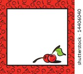 fun fruits cherry page layout... | Shutterstock . vector #14406040