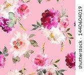 seamless summer pattern with... | Shutterstock . vector #1440604019