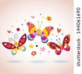 Stock vector butterflies 144061690