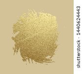 gold paint stroke. abstract... | Shutterstock .eps vector #1440624443