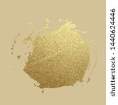 gold paint stroke. abstract... | Shutterstock .eps vector #1440624446